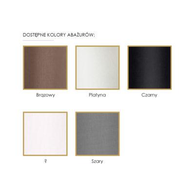 kolory abażurów